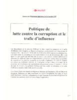 politique-lutte-contre-corruption-trafic-influence