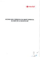 Accord sur l'exercice du droit syndical du 5 juin 2019