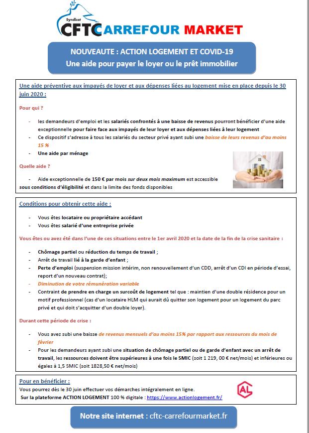Action logement et Covid-19 : une aide pour payer le loyer et le prêt immobilier