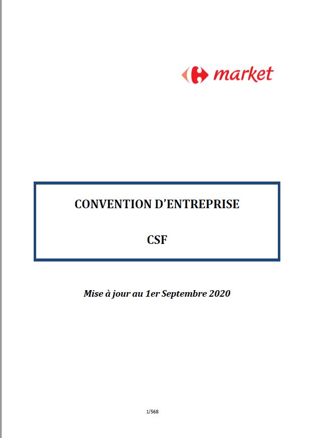La convention d'entreprise CSF à jour est en ligne!
