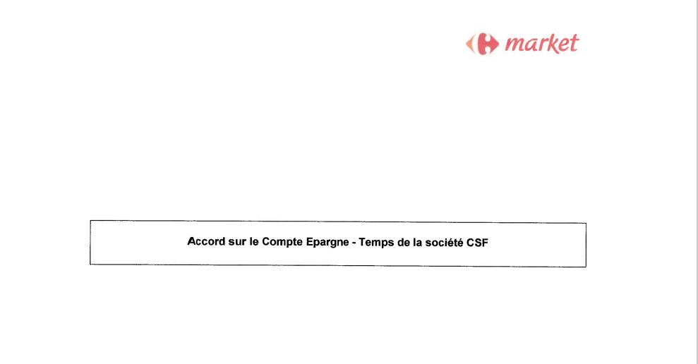Nouvel accord CET en ligne!